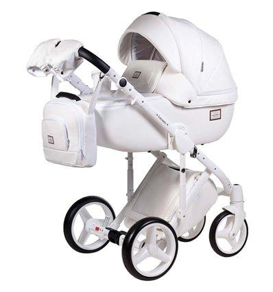 Детская коляска 2 в 1 Adamex Luciano Deluxe Q-107 Эко-Кожа