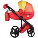 Детская коляска 2 в 1 Adamex Luciano Deluxe Q-269 Эко-Кожа