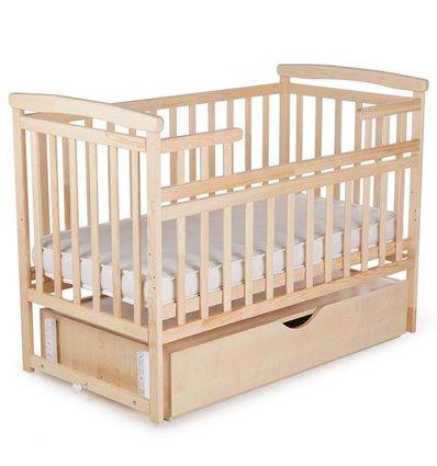 Ліжечко Дитячий Сон з маятником і ящиком колір натуральний