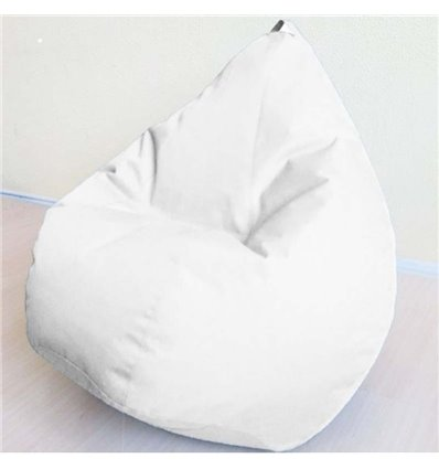 Кресло груша Оксфорд Белый 140-90 см Tia-sport