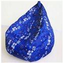 Кресло груша Принт Синие цветы 140-90 см Tia-sport