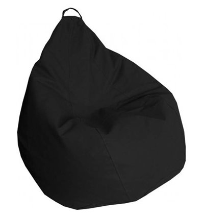 Крісло груша Практик Чорний 140-90 см Tia-sport