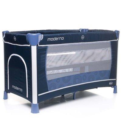 Манеж кровать с пеленатором 4Baby Moderno синий