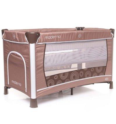 Манеж кровать с пеленатором 4Baby Moderno коричневый