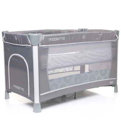 Манеж кровать с пеленатором 4Baby Moderno серый