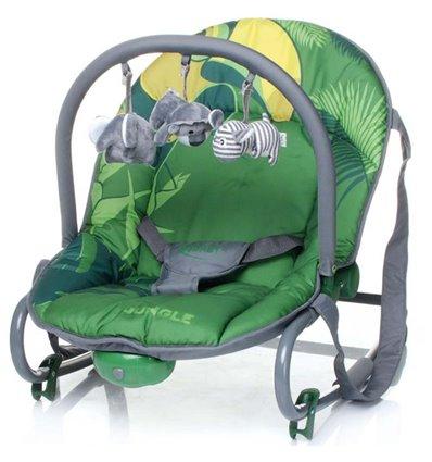 Шезлонг 4Baby Jungle зелений