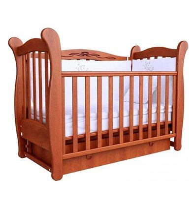 Кроватка Верес Соня ЛД15 с шухлядой и маятником, Цвет - ольха
