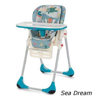 Стільчик для годування Chicco Polly 2 в 1 Sea Dream 79065.80