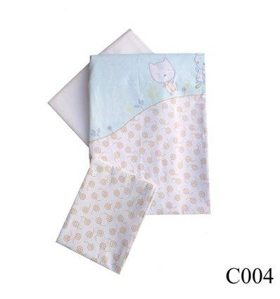 Сменная постель Twins Comfort C-004 Котики бирюзовый 3 элемента