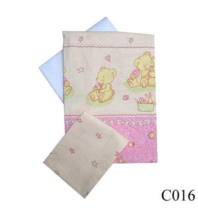 Сменная постель Twins Comfort C-016 Мишки со звездами розовый 3 элемента