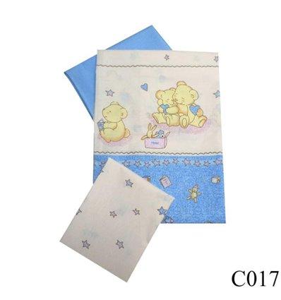 Сменная постель Twins Comfort C-017 Мишки со звездами голубой 3 элемента