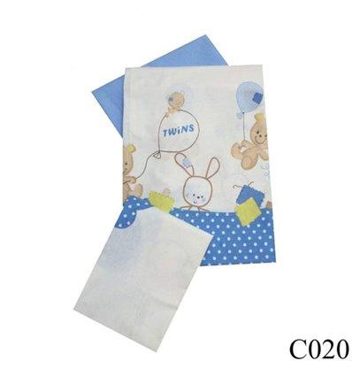 Сменная постель Twins Comfort C-020 Горошки голубой 3 элемента