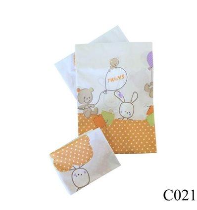 Сменная постель Twins Comfort C-021 Горошки оранжевый 3 элемента