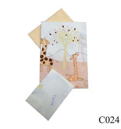 Сменная постель Twins Comfort C-024 Жирафы 3 элемента