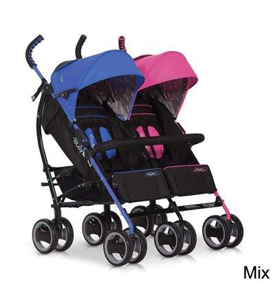 Прогулочная коляска для двойни Easy Go Duo Comfort Mix