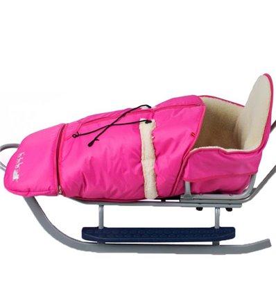 Конверт Alaska до санок Adbor Piccolino, Xdrive рожевий