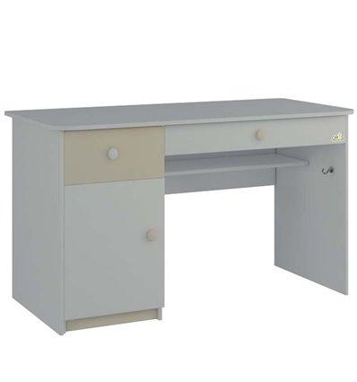 Стол письменный Oris Tot с ящиками белый-слоновая кость
