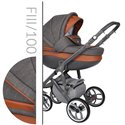 Детская коляска 2 в 1 Baby Merc Faster Style 3 100