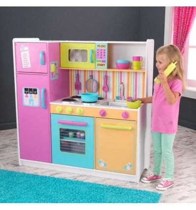 Детская кухня KidKraft Deluxe яркая 53100
