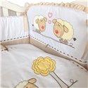 Детский постельный комплект Twins Evolution 6 элементов A-030 Овечки бежевый