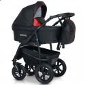 Детская коляска 3 в 1 Verdi Sonic Plus 01 черная с красным