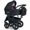 Детская коляска 3 в 1 Verdi Sonic Plus 03 черная с бордовым