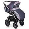 Дитяча коляска 3 в 1 Verdi Sonic Plus 03 чорна з бордовим