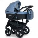 Детская коляска 3 в 1 Verdi Sonic Plus 07 джинс с черным