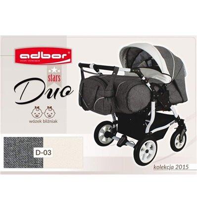 Дитяча коляска для двійні Adbor Duo Stars 03