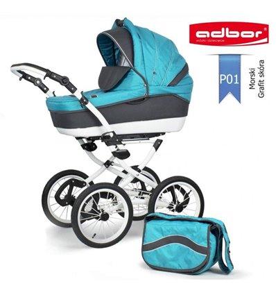 Детская коляска 3 в 1 Adbor Marsel PerFor Classic P01