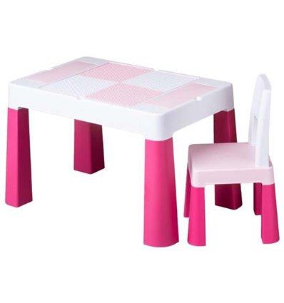 Детский столик и стульчик Tega Multifun розовый