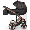 Детская коляска 2 в 1 Tako Junama Enzo Go 04 черная на бронзовой раме