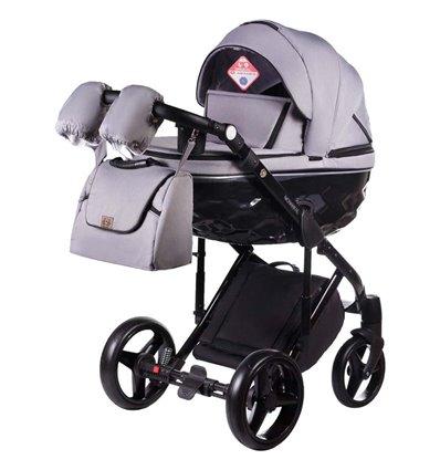 Детская коляска 2 в 1 Adamex Chantal С202 серая