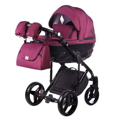 Детская коляска 2 в 1 Adamex Chantal С207 бордовая