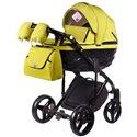 Детская коляска 2 в 1 Adamex Chantal С208 лимонная