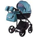 Детская коляска 2 в 1 Adamex Chantal С209 бирюзовая