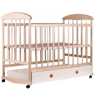 Кроватка Наталка с ящиком светлая