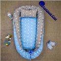 Кокон-гнездо Добрый Сон Baby Line 70х110см Звезды голубой