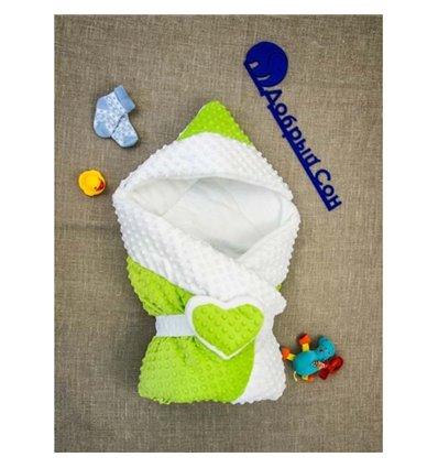 Конверт-одеяло Добрый Сон Сердце 80х100см зеленый