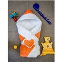 Конверт-одеяло Добрый Сон Сердце 80х100см оранжевый