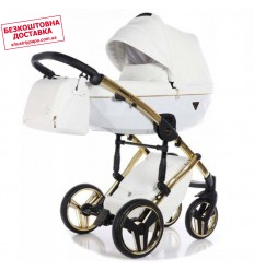 Детская коляска 2 в 1 Tako Junama Diamond Individual White золотая рама