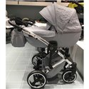 Детская коляска 2 в 1 Tako Junama Enzo Go 03 серая на серебристой раме