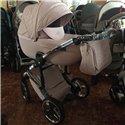 Детская коляска 2 в 1 Tako Junama Enzo Go 05 бежевая на серебристой раме