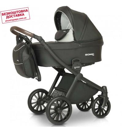 Детская коляска 3 в 1 Verdi Sonic Soft 02 черная