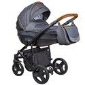 Детская коляска 2 в 1 Coletto Florino New FN-06 серая с черным