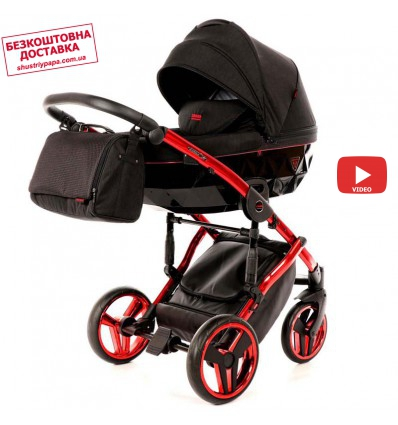 Детская коляска 2 в 1 Tako Junama Diamond Individual 01 красная рама