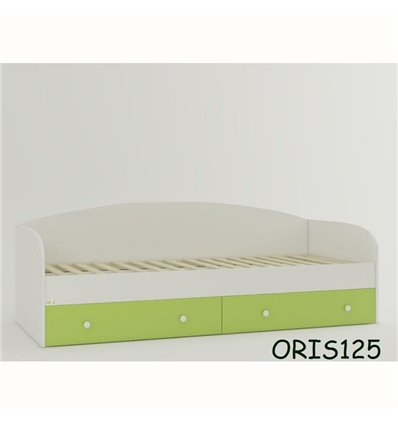 Подростковая кроватка Oris Nika бело-зеленый