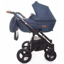 Детская коляска 2 в 1 Broco Capri текстиль синяя