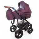 Детская коляска 2 в 1 Broco Capri текстиль бордовая