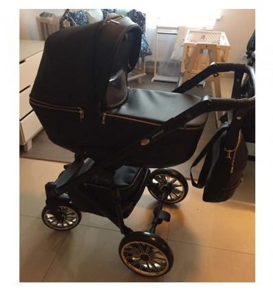 Детская коляска 2 в 1 Broco Smart Gold Black